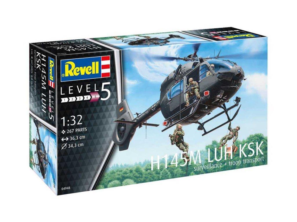 1034 plastovy model vrtulnik revell 04948 h145m luh ksk 1 32