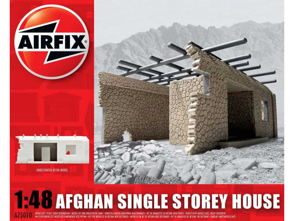 104 plastovy model budova airfix a75010 afghan single storey house 1 48