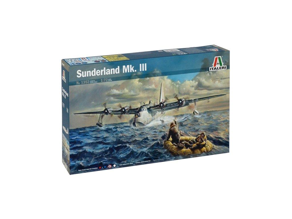 1040 model kit lietadlo italeri 1352 sunderland mk iii 1 72
