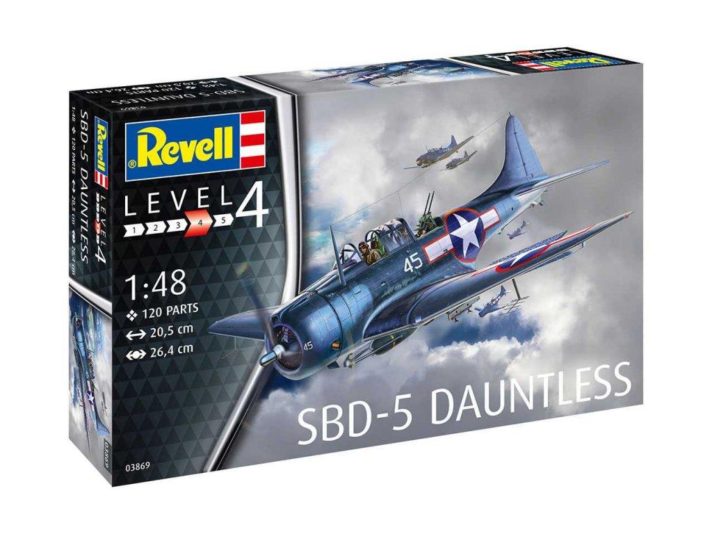 Plastový model lietadlo REVELL 03869 - SBD-5 Dauntless Navyfighter (1:48)