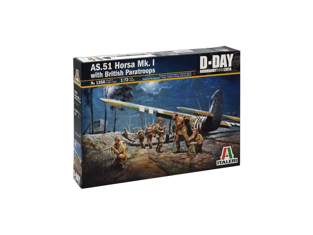 1049 model kit lietadlo italeri 1356 as 51 horsa mk i ii british paratr 1 72