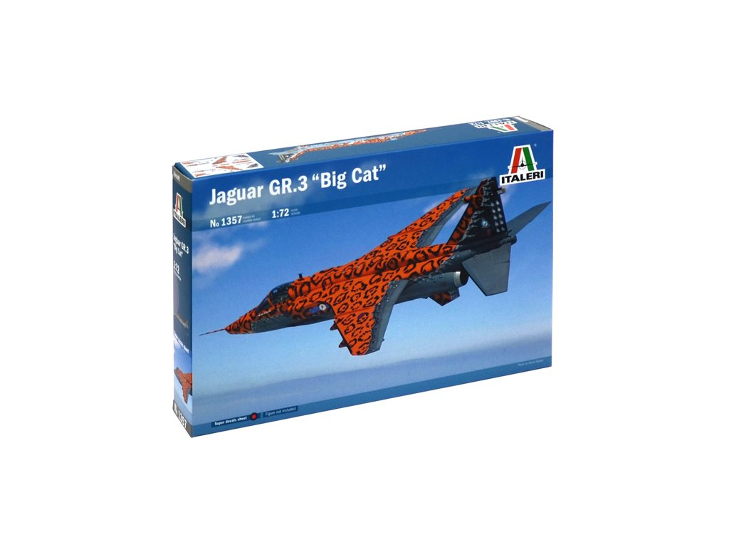 1052 model kit lietadlo italeri 1357 jaguar gr 3 big cat 1 72