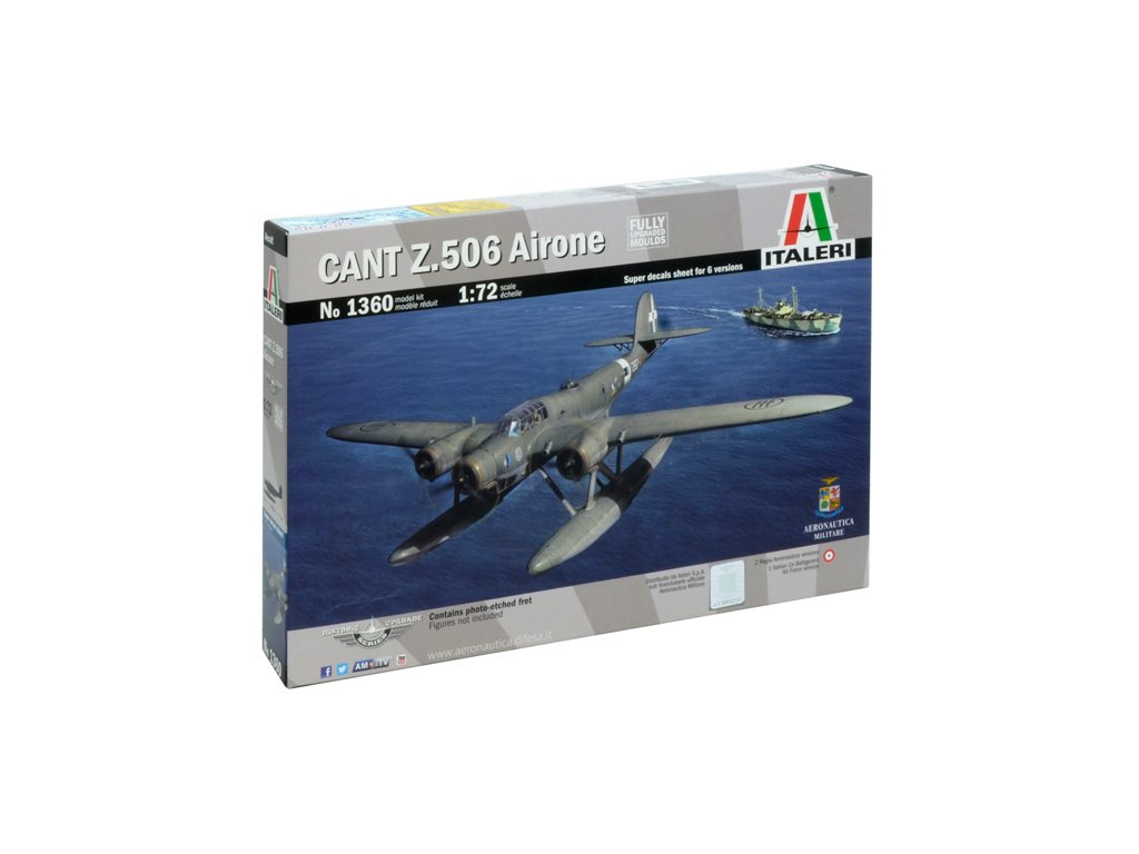 1055 model kit lietadlo italeri 1360 cant z 506b airone historic upgrade 1 72