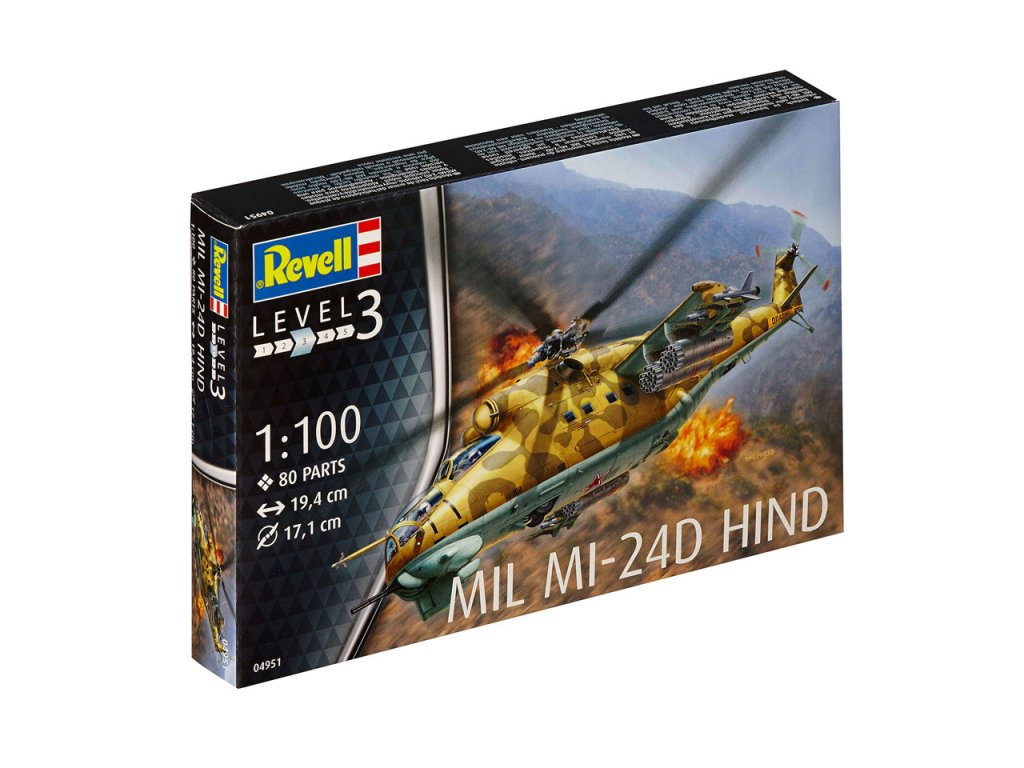 1058 plastovy model vrtulnik revell 04951 mil mi 24d hind 1 100