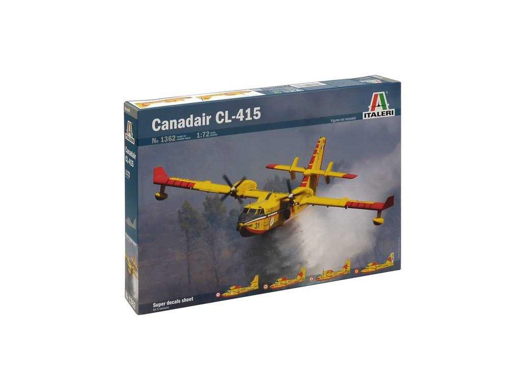 1061 model kit lietadlo italeri 1362 canadair cl 415 1 72
