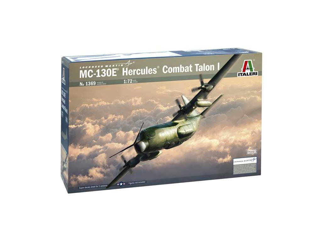 1067 model kit lietadlo italeri 1369 mc 130e hercules combat talon l 1 72