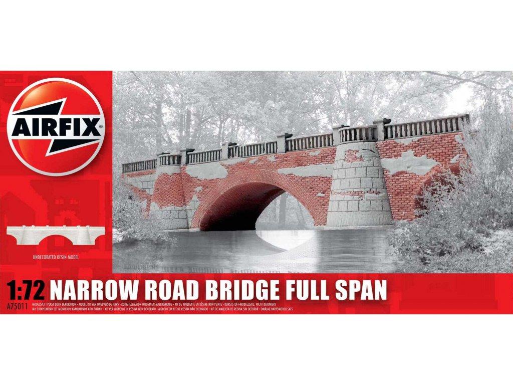 107 plastovy model budova airfix a75011 narrow road bridge full span 1 72