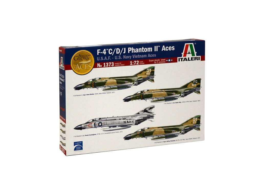 1070 model kit lietadlo italeri 1373 f 4 c d j phantom ii aces usaf 1 72