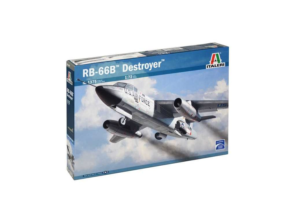 1076 model kit lietadlo italeri 1375 rb 66b destroyer 1 72