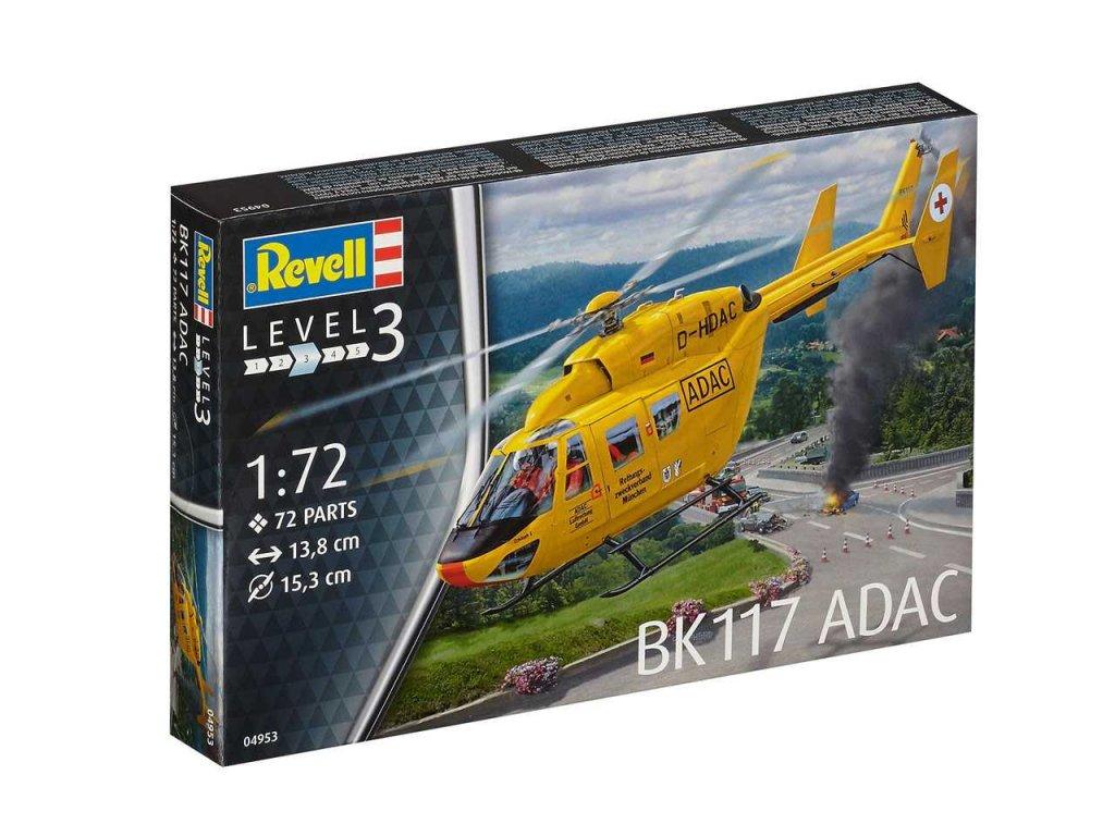 1082 plastovy model vrtulnik revell 04953 bk 117 adac 1 72