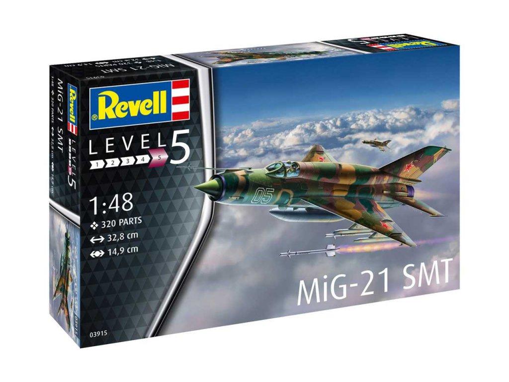 110 plastovy model lietadlo revell 03915 mig 21 smt 1 48