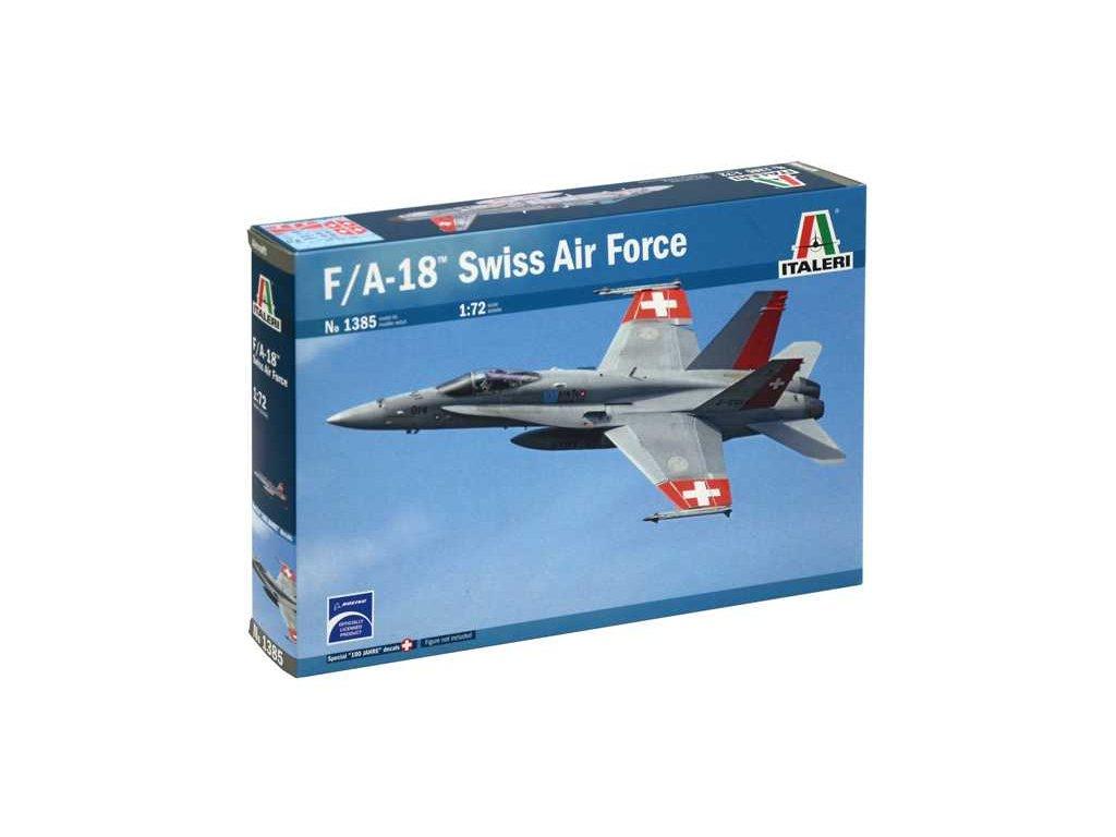 1109 model kit lietadlo italeri 1385 f a 18 swiss air force 1 72