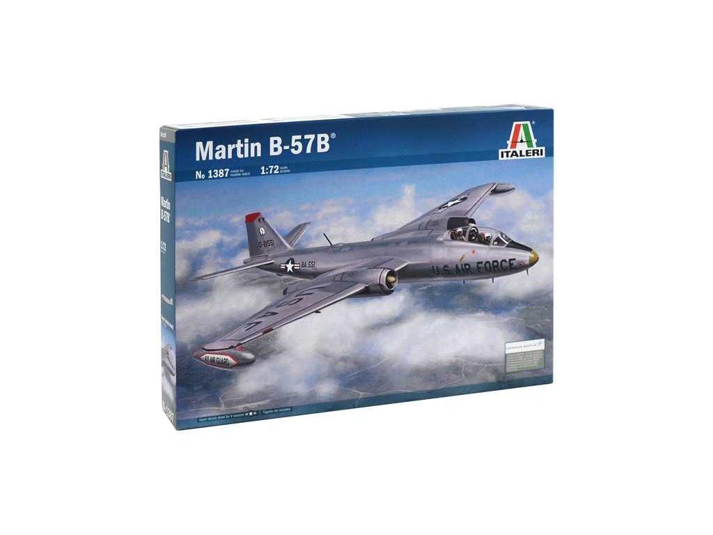 1118 model kit lietadlo italeri 1387 martin b 57b 1 72