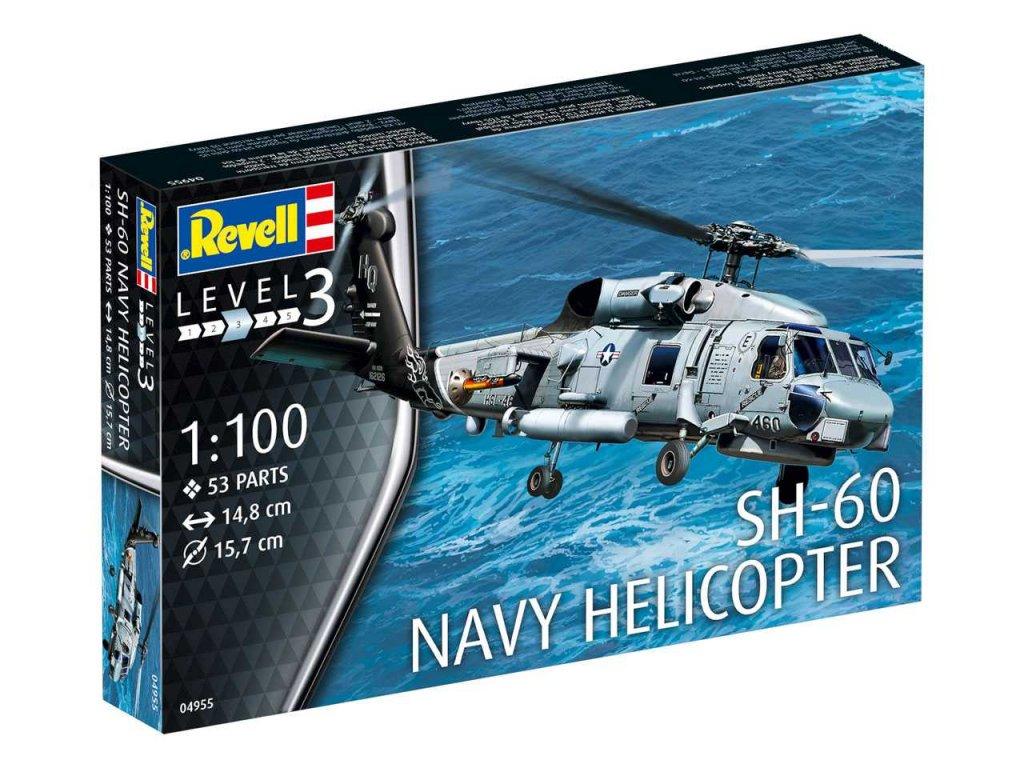 1148 plastovy model vrtulnik revell 04955 sh 60 navy helicopter 1 100