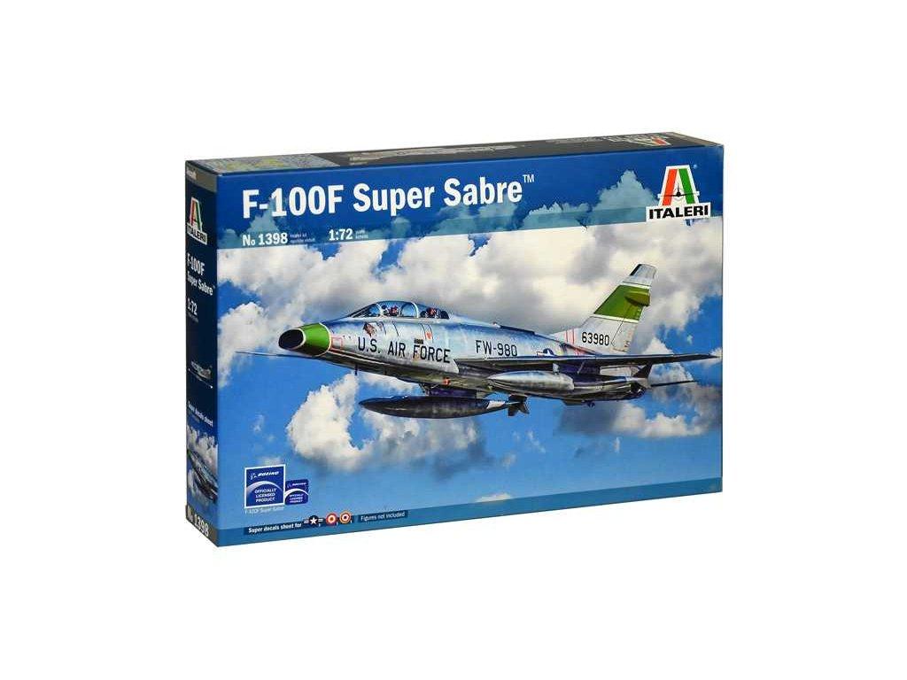 1151 model kit lietadlo italeri 1398 f 100f super sabre 1 72