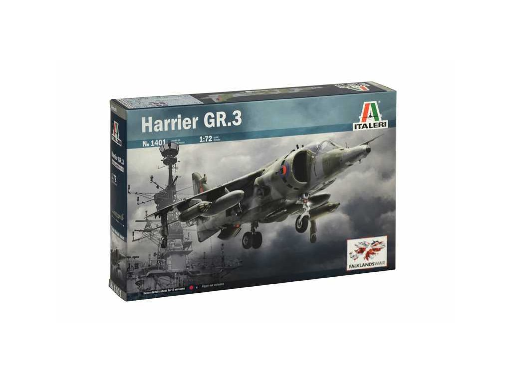 1154 model kit lietadlo italeri 1401 harrier gr 3 1 72