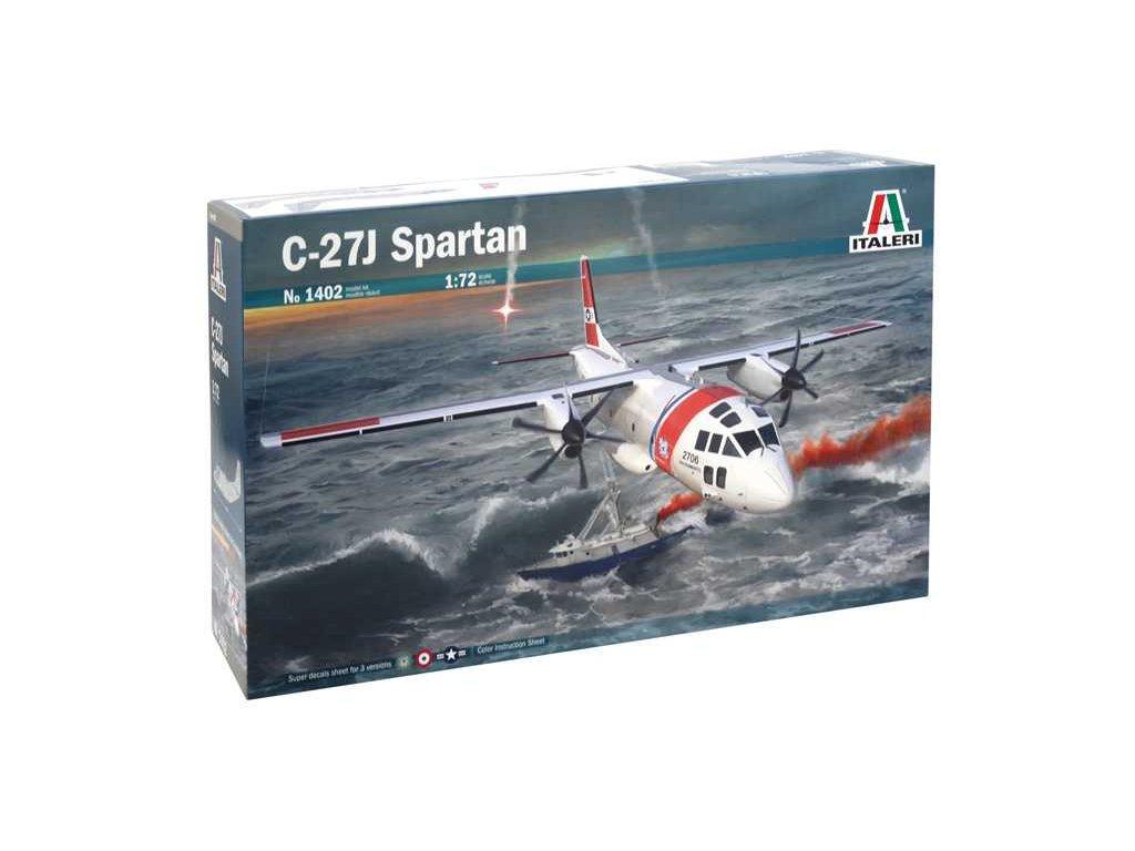 1157 model kit lietadlo italeri 1402 c 27j spartan 1 72