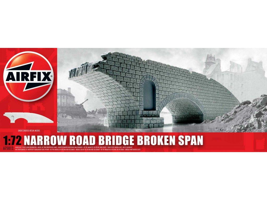 116 plastovy model budova airfix a75012 narrow road bridge broken span 1 72