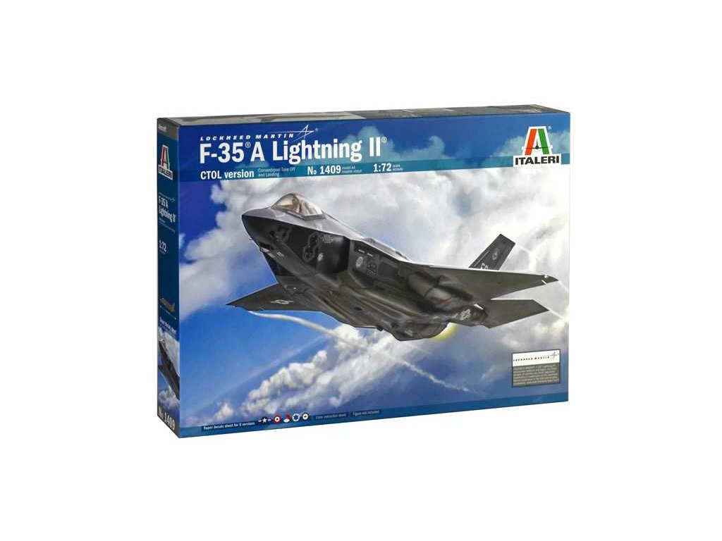 1172 model kit lietadlo italeri 1409 f 35 a lightning ii ctol version 1 72