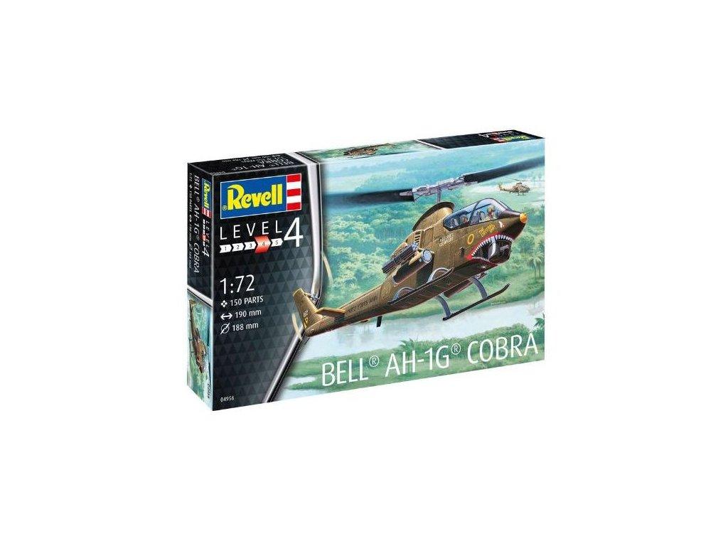 1181 plastovy model vrtulnik revell 04956 bell ah 1g cobra 1 72