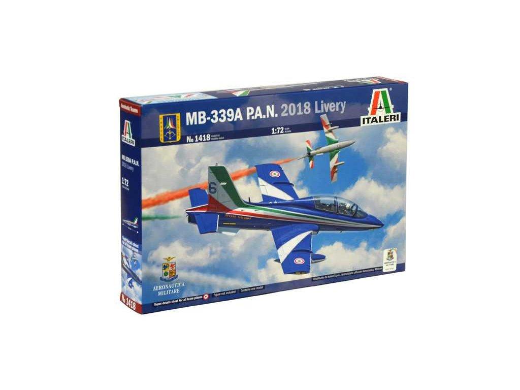 1190 model kit lietadlo italeri 1418 mb 339a p a n 2018 livery 1 72