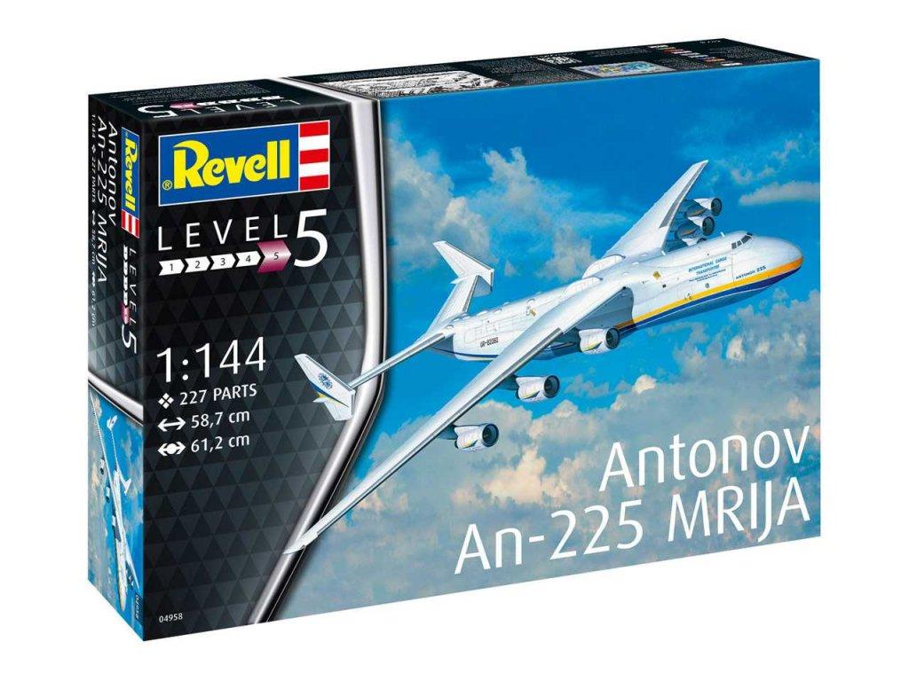 1205 plastovy model lietadlo revell 04958 antonov an 225 mrija 1 144