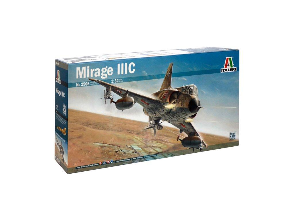 1208 model kit lietadlo italeri 2505 mirage iii 1 32