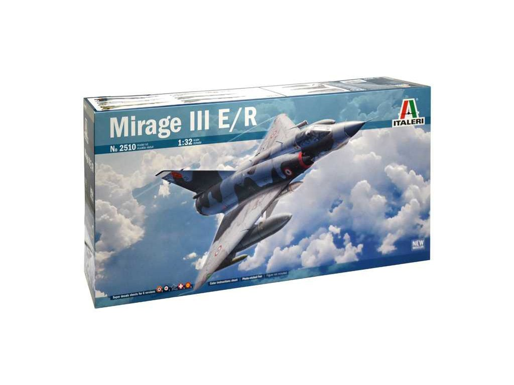 1217 model kit lietadlo italeri 2510 mirage iii e r 1 32
