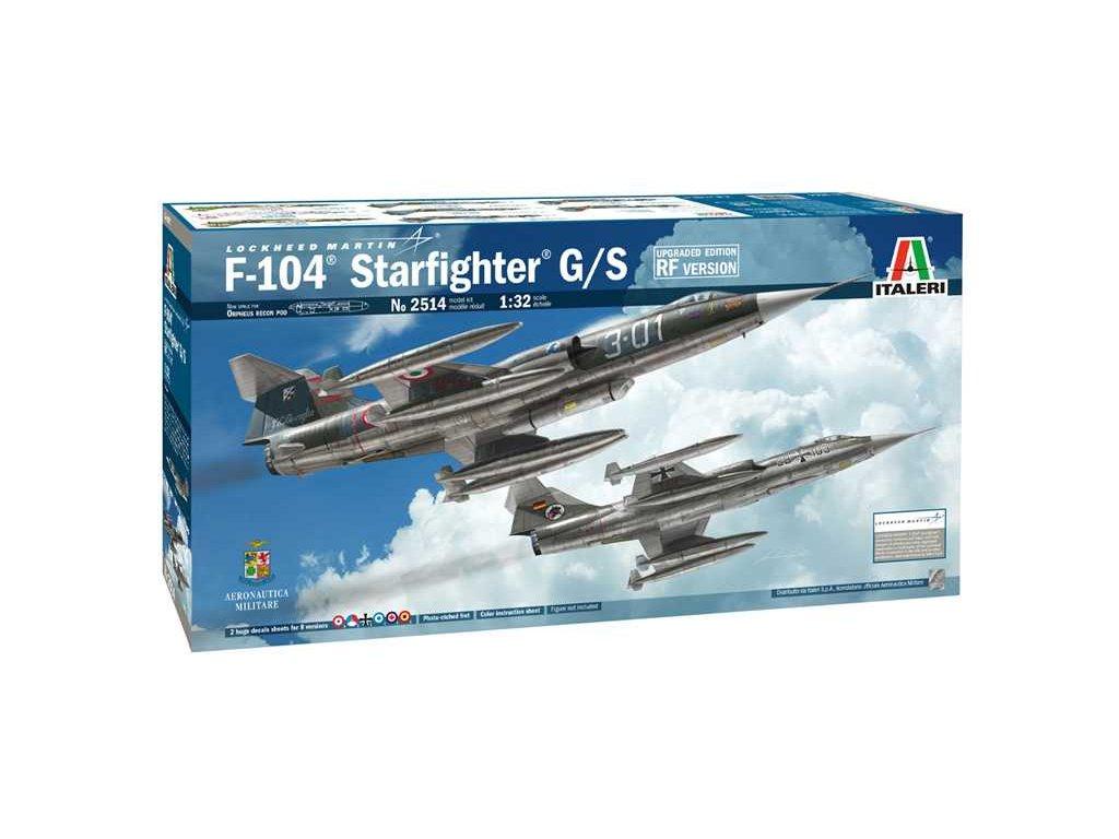 1220 model kit lietadlo 2514 f 104 starfighter g s upgraded edition rf version 1 32