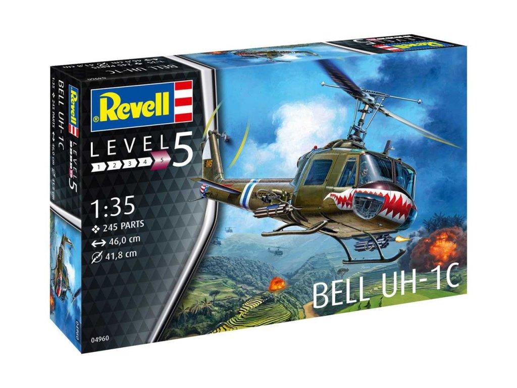 1238 plastovy model vrtulnik revell 04960 bell uh 1c 1 35