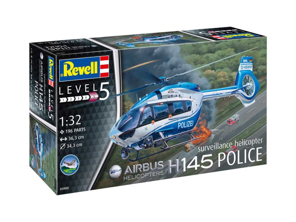 1247 plastovy model vrtulnik revell 04980 h145 police 1 32