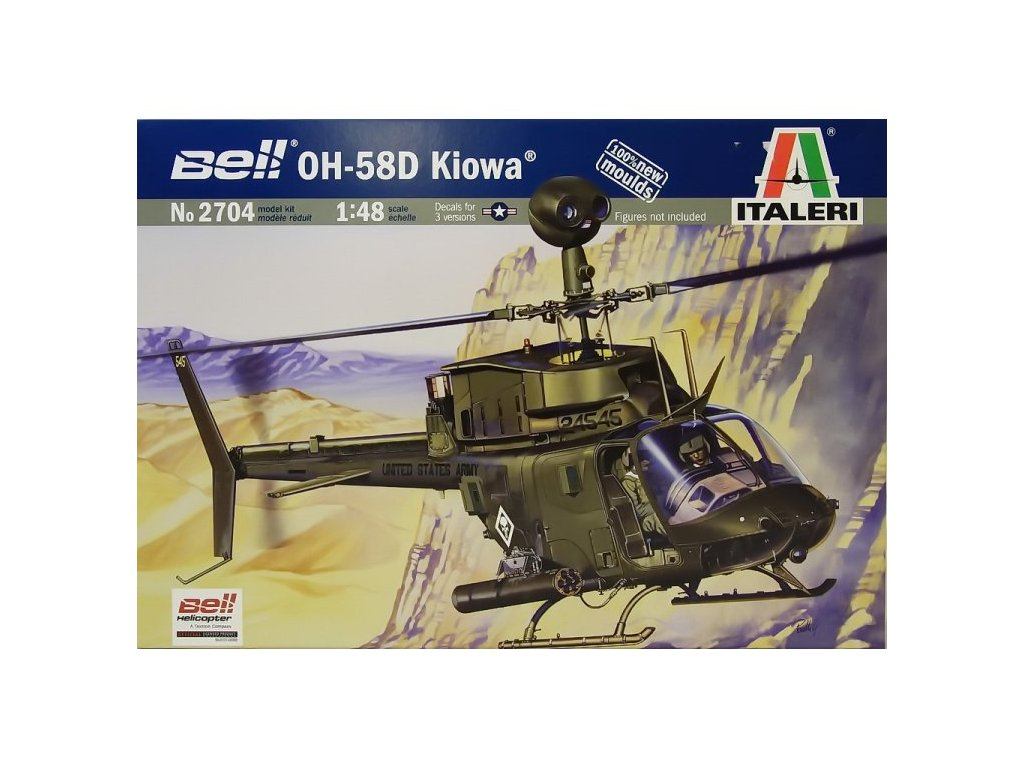 1250 model kit vrtulnik italeri 2704 oh 58d kiowa 1 48