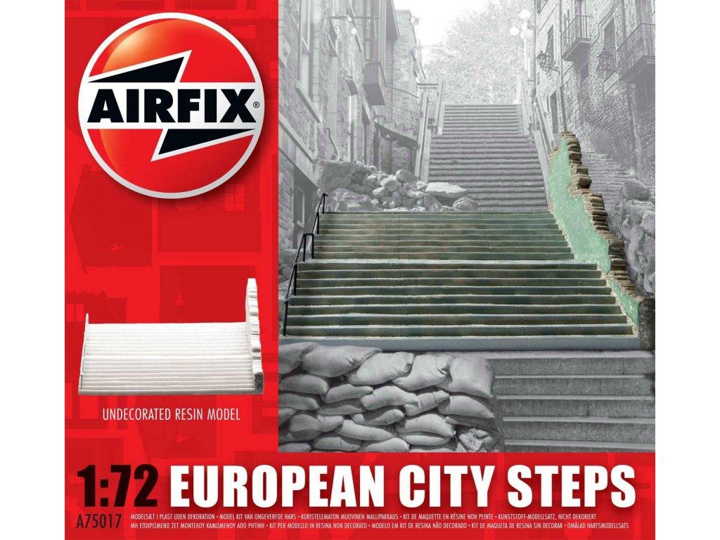 128 plastovy model budova airfix a75017 european city steps 1 72
