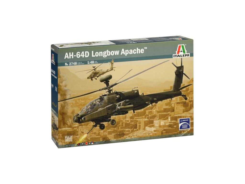 1295 model kit vrtulnik italeri 2748 ah 64d longbow apache 1 48