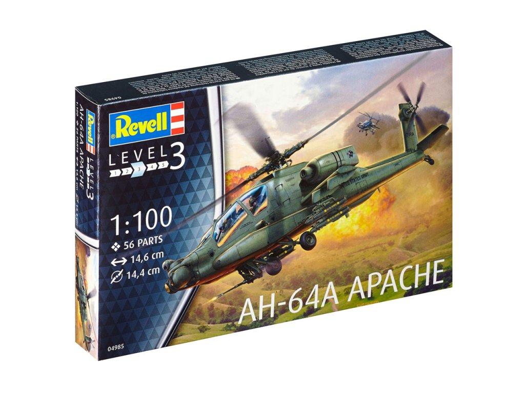 1298 plastovy model vrtulnik revell 04985 ah 64a apache 1 100