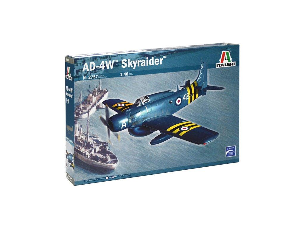 1310 model kit lietadlo italeri 2757 ad 4w skyraider 1 48