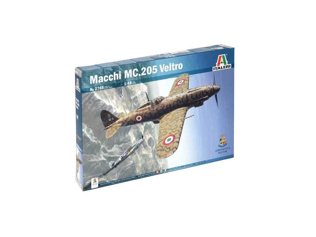 1319 model kit lietadlo italeri 2765 macchi mc 205 veltro 1 48