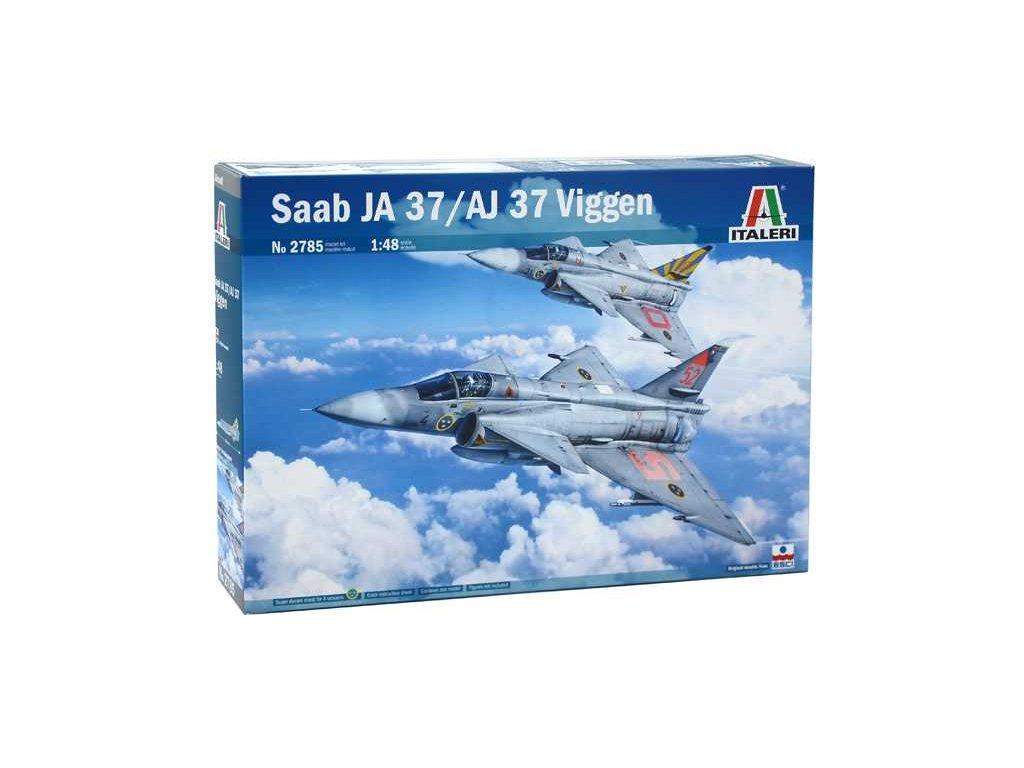 1355 model kit lietadlo italeri 2785 saab ja 37 aj 37 viggen 1 48