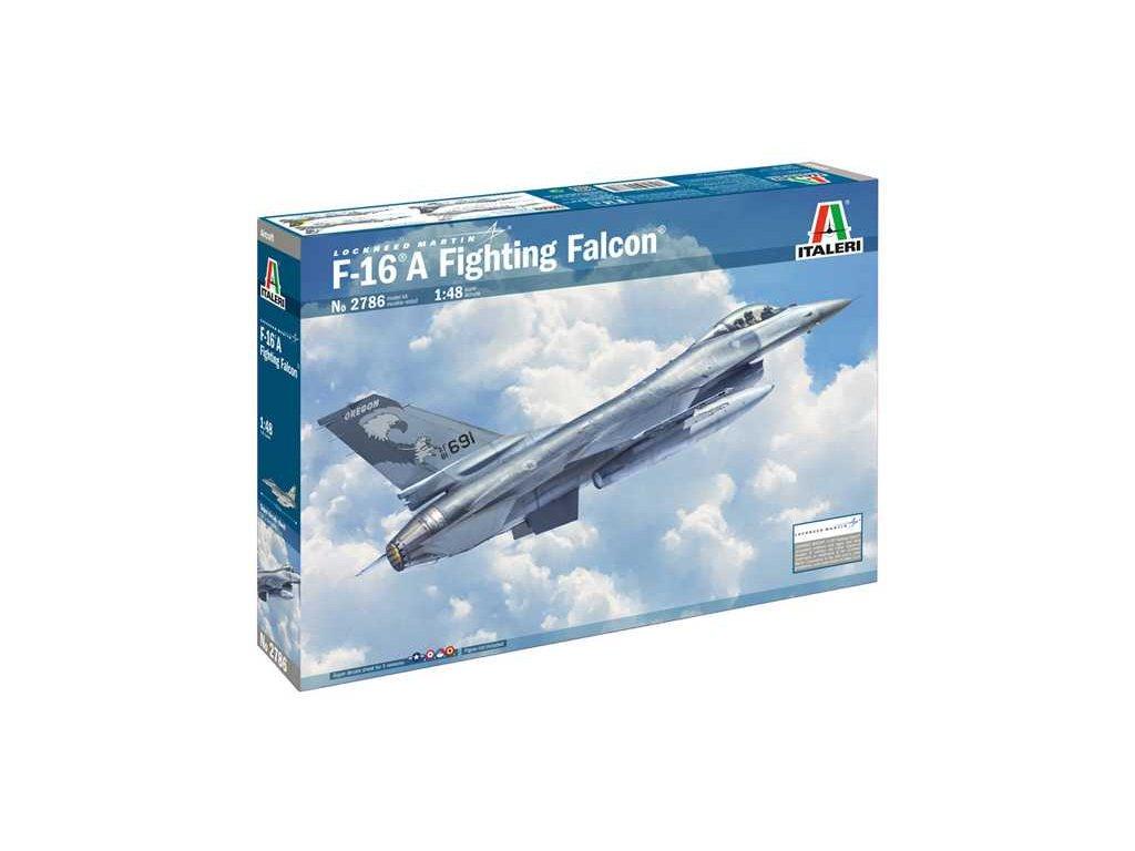 1358 model kit lietadlo italeri 2786 f 16a fighting falcon 1 48