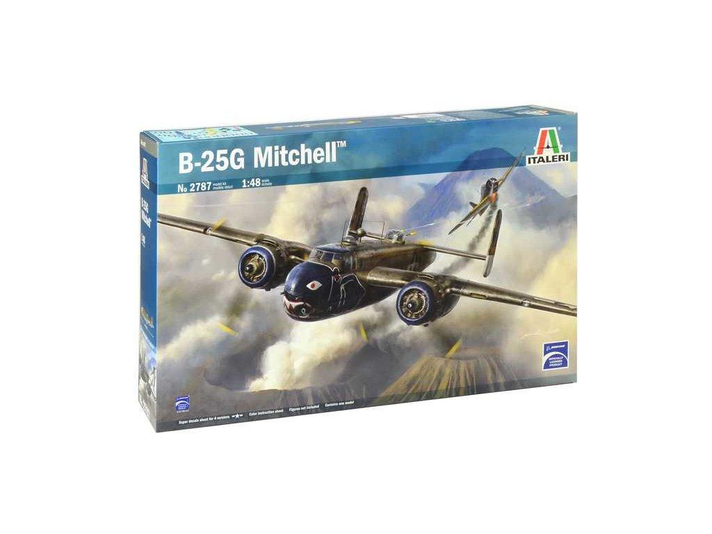 1361 model kit lietadlo italeri 2787 b 25g mitchell 1 48