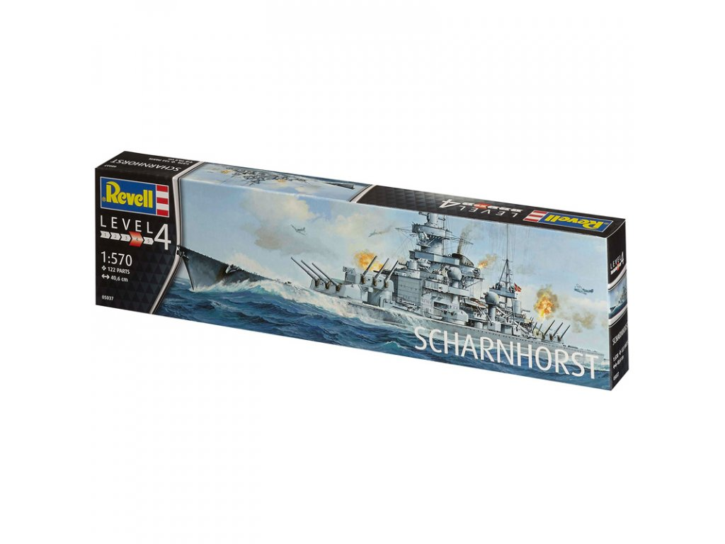 1364 plastovy model lod revell 05037 scharnhorst 1 570