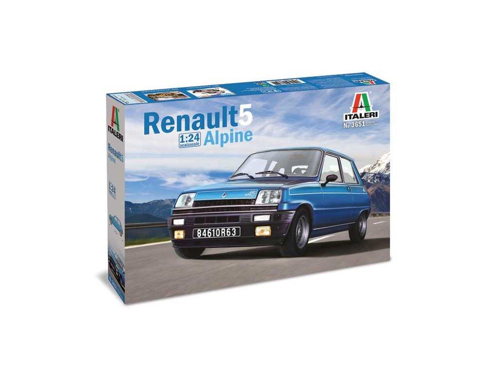 1370 model kit auto italeri 3651 renault 5 alpine 1 24