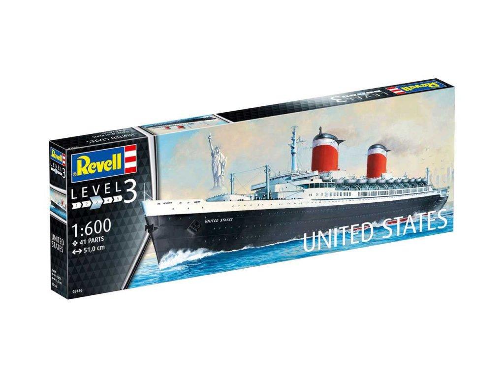 1373 plastovy model lod revell 05146 ss united states 1 600