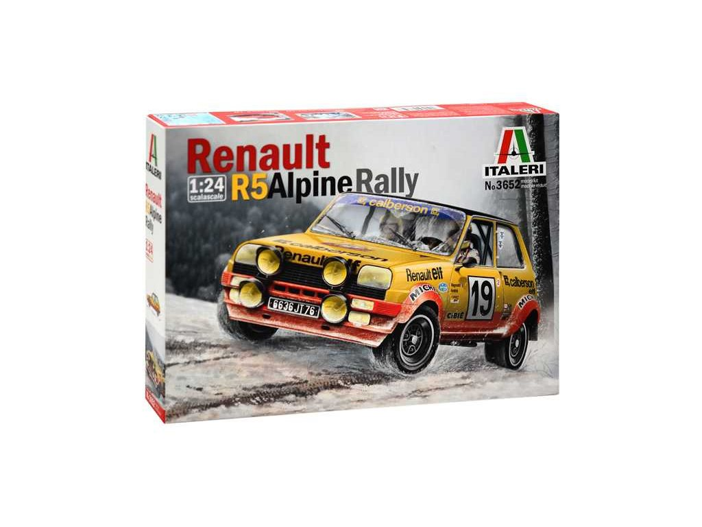1376 model kit auto italeri 3652 renault r5 alpine rally 1 24