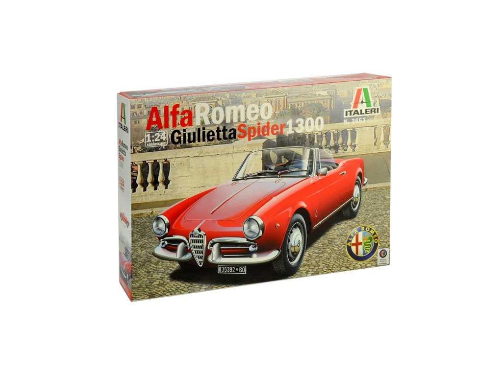 1379 model kit auto italeri 3653 alfa romeo giulietta spider 1300 1 24