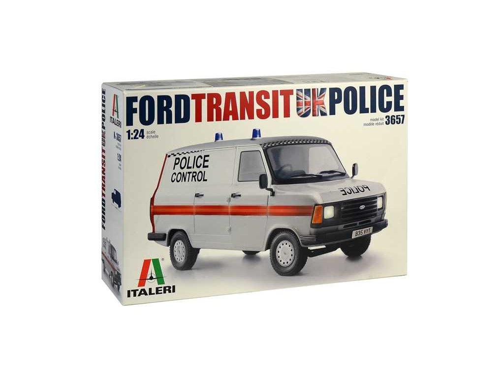 1388 model kit auto italeri 3657 ford transit uk police 1 24