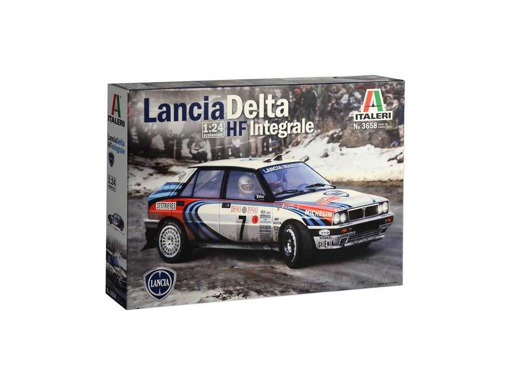 1391 model kit auto italeri 3658 lancia delta hf integrale 1 24