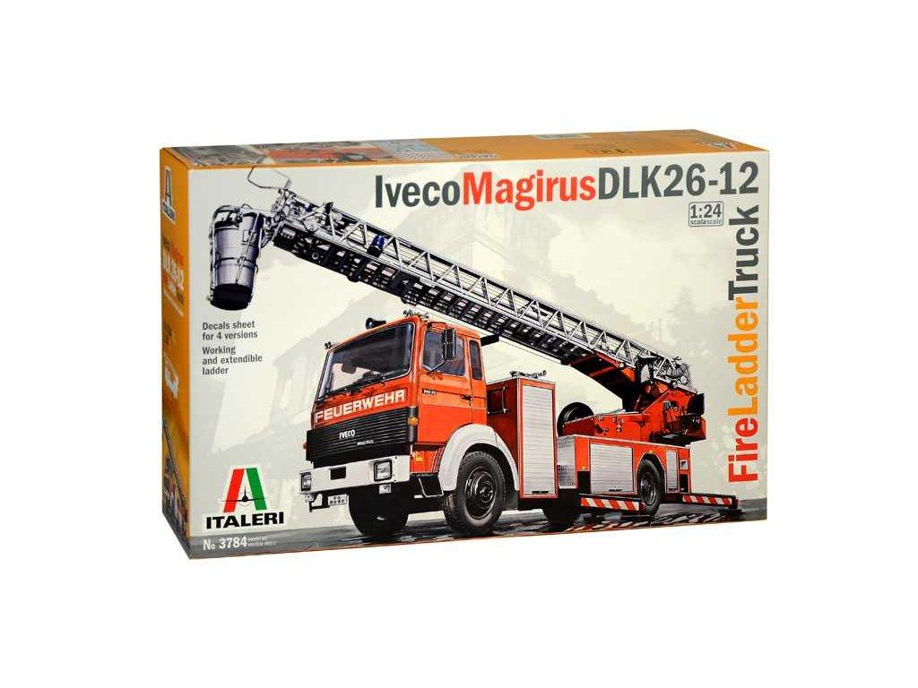 1421 model kit truck italeri 3784 iveco magirus dlk 26 12 fire ladder truck 1 24