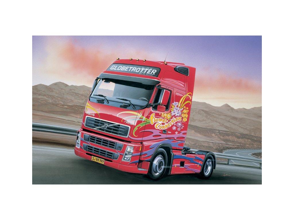 1427 model kit truck italeri 3821 volvo fh16 globetrotter xl 1 24