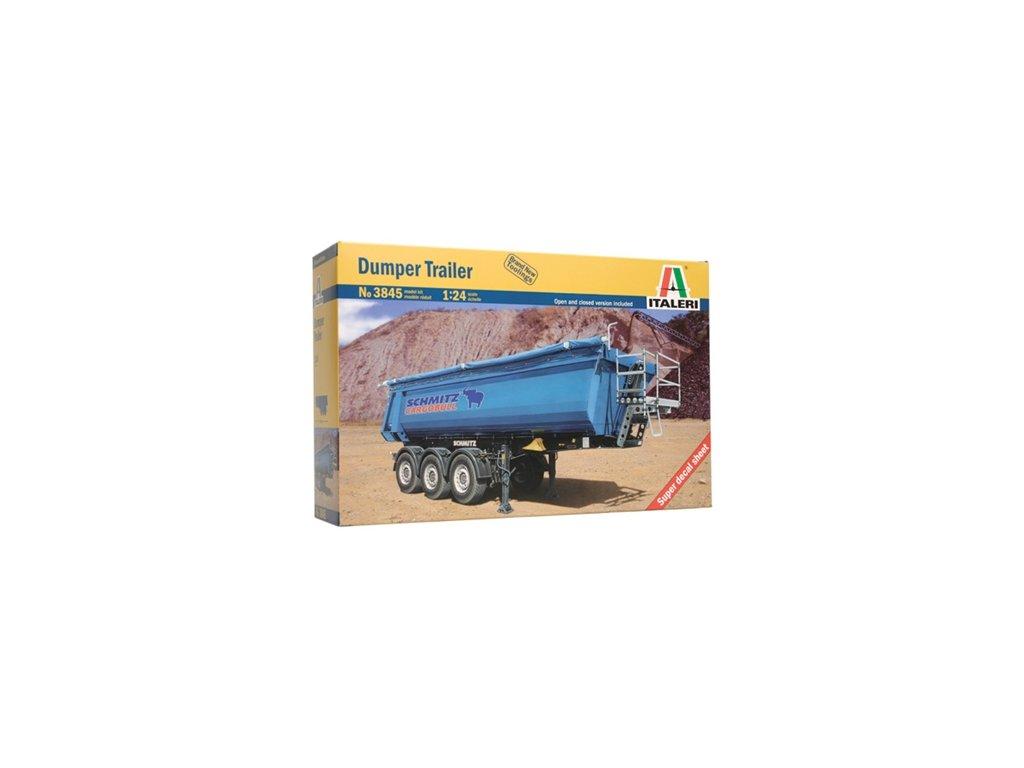 1436 model kit naves italeri 3845 dumper trailer 1 24